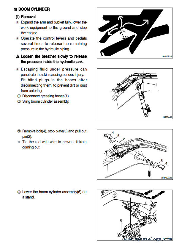 Hyundai R110-7 Crawler Excavator Service Manual Download