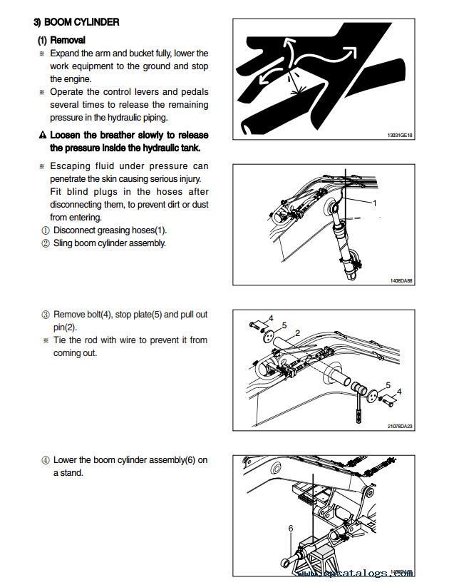 Hyundai R110-7 Crawler Excavator Service Manual Download