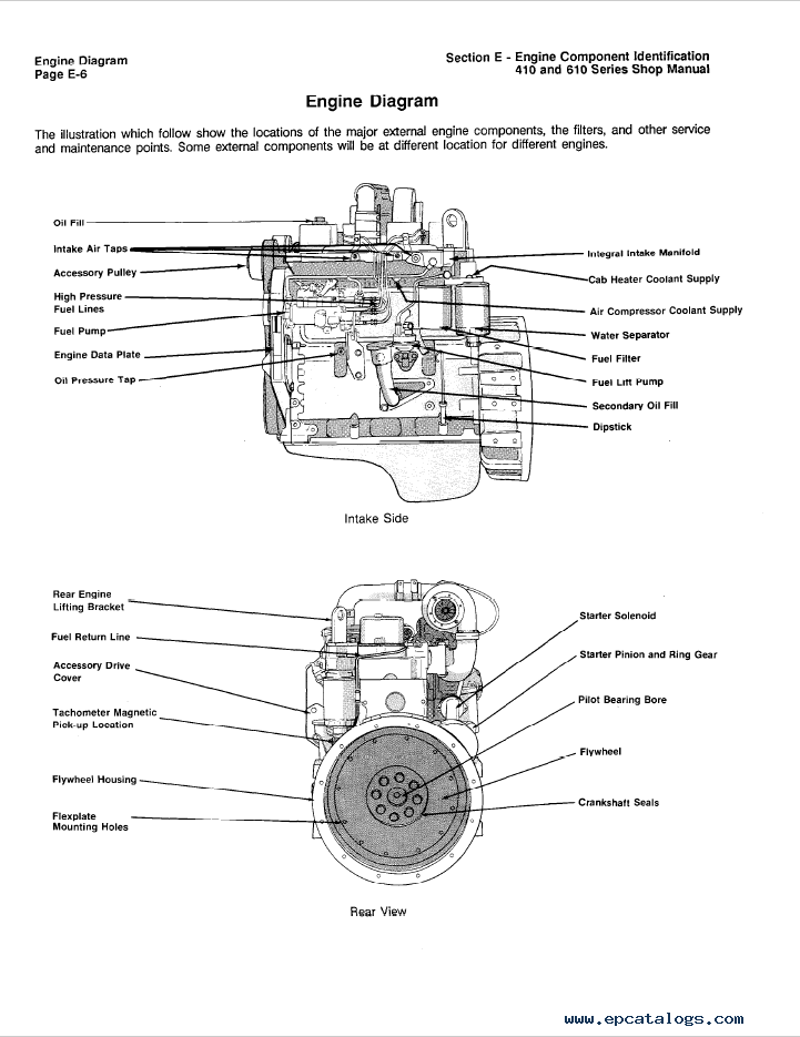 Komatsu Engine 410 and 610 Series Shop Manual Download