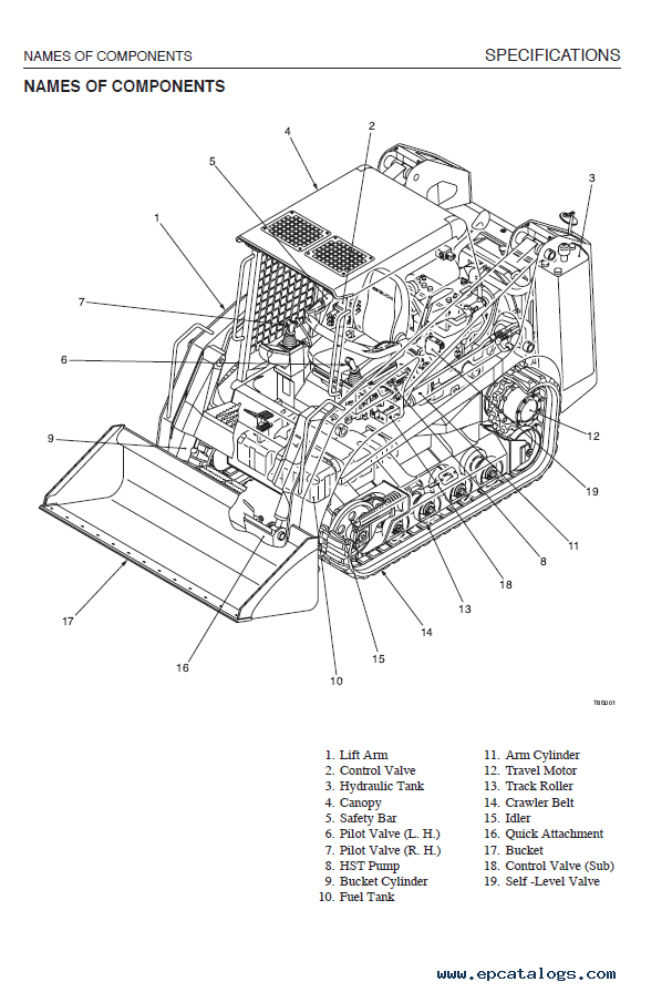 Takeuchi Crawler Loader TL130 Workshop Manual Download