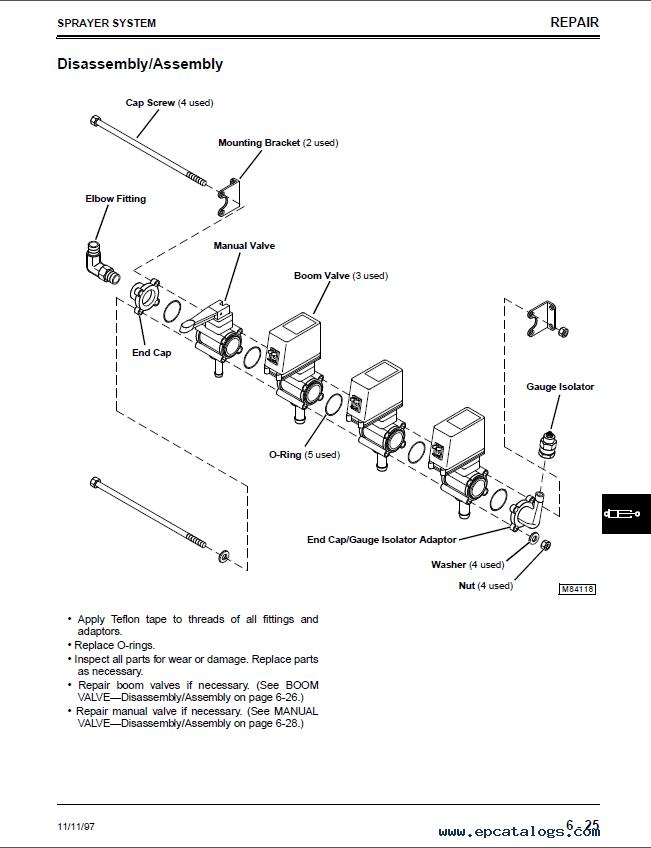 John Deere 200 Sprayer Attachment TM1729 Technical Manual