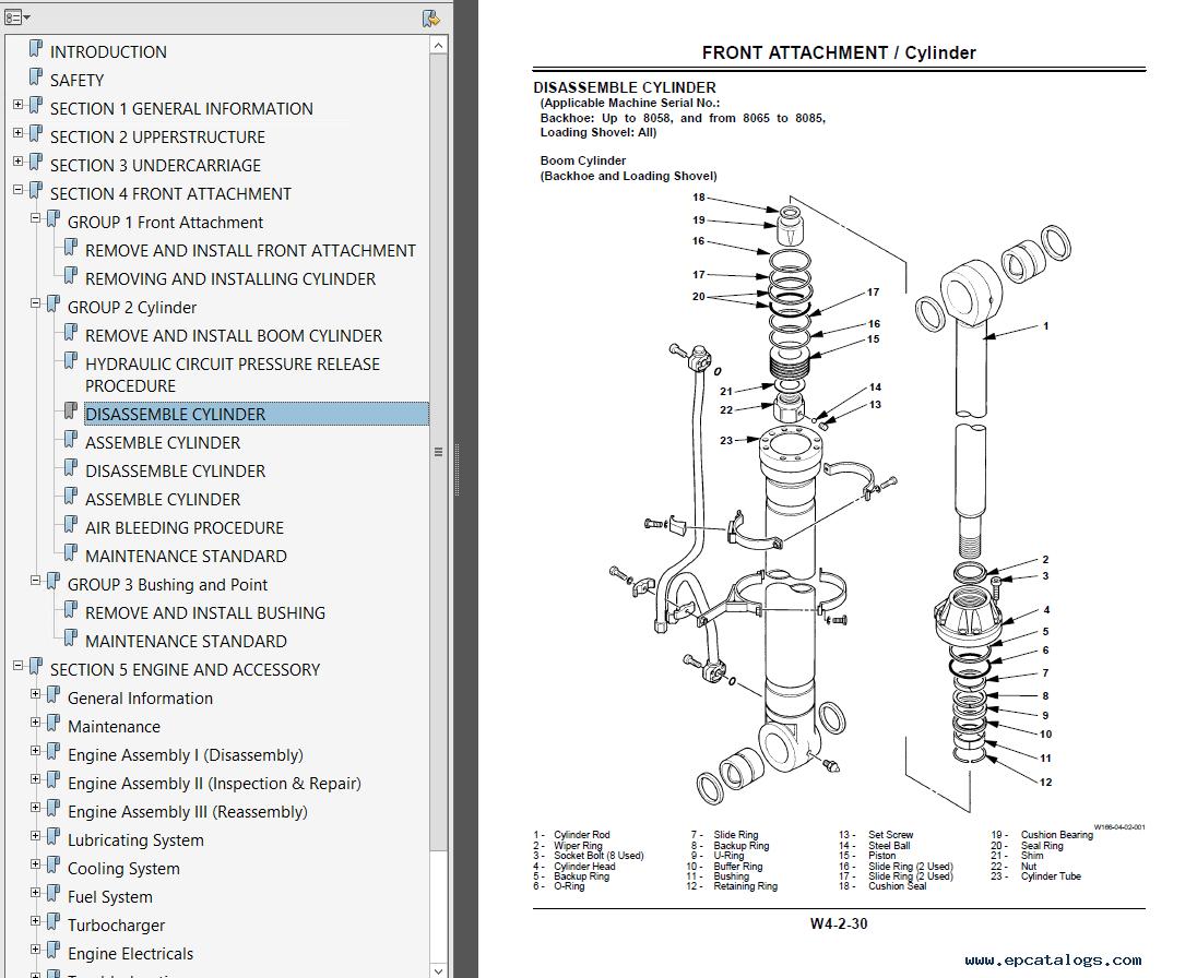 Hitachi ex120 2 excavator pdf workshop manual