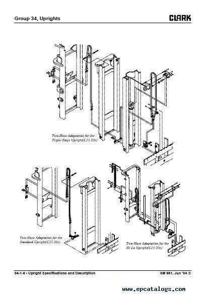 Clark C15-33(35) D/L/G C15-32C L/G SM661 Repair Manual