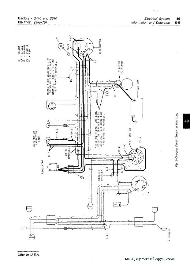 john deere gator alternator wiring diagram car ac relay 2440 41 images 2640 tractors tm1142 technical manual pdf for