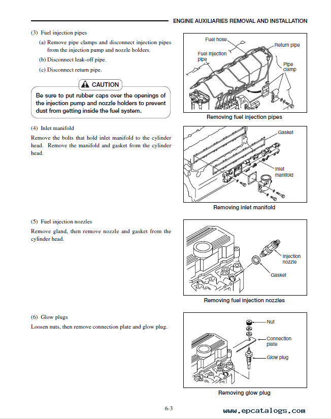 CAT S6S Engine GP/GPL/DP/DPL40 DP45 DP50 Service Manual PDF