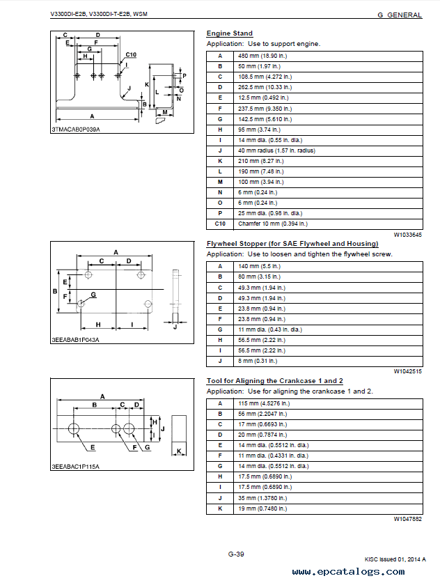 Kubota V3300DI-E2B V3300DI-T-E2B Diesel Engines PDF