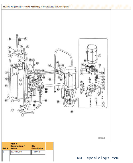 Yale Truck B865 MO10S PDF Parts & Technical Information