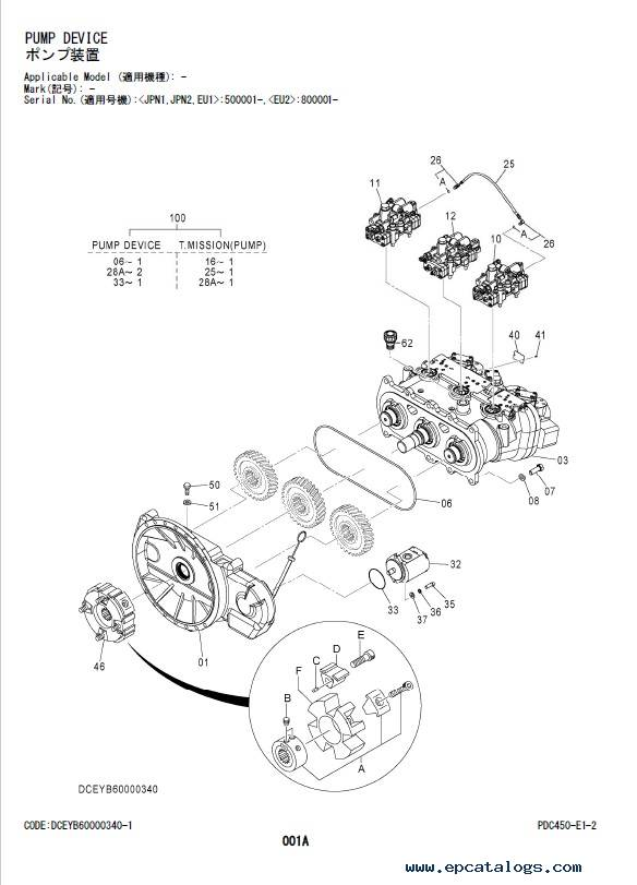 Hitachi Zaxis 200-6 Series Equipment Components Parts PDF