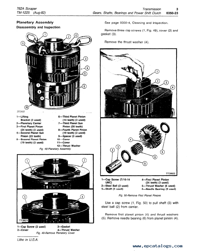 John Deere 762A Scraper TM1225 Technical Manual PDF