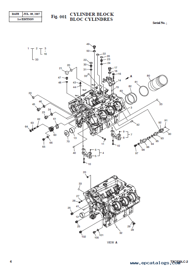 Terex TXC 520LC-2 Heavy Excavator Parts Manual PDF Download