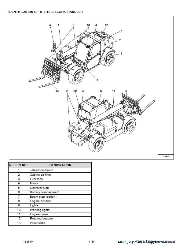 Bobcat T2556 T2566 Telescopic Handlers Service Manual PDF