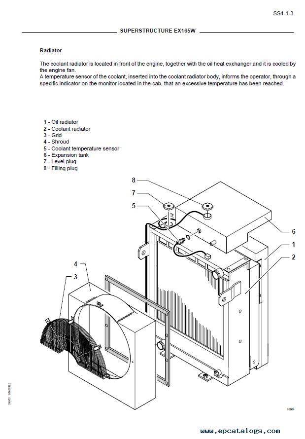 Hitachi Fiat Kobelco Excavator & Engine EX165W PDF Manual