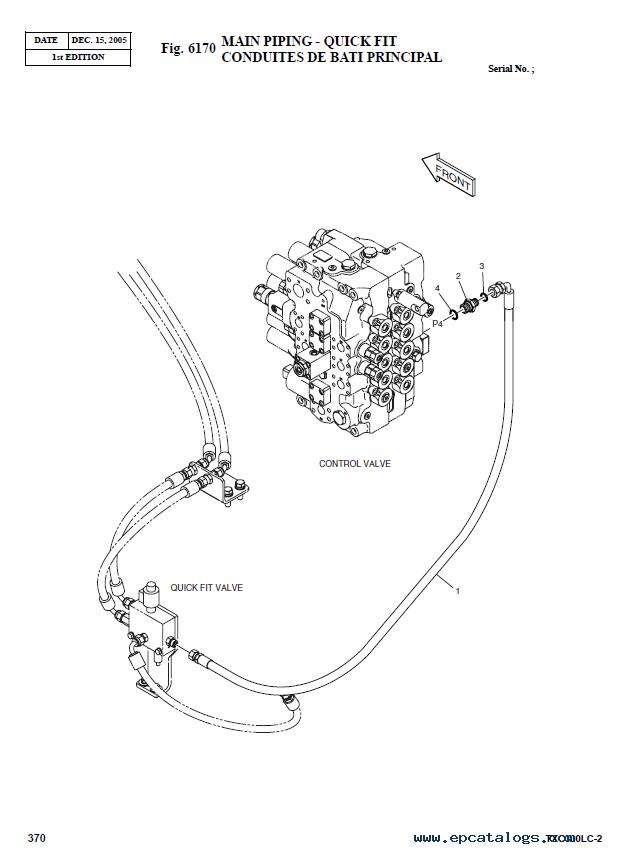 Terex TXС 300LC-2 Heavy Hydraulic Excavator Parts Manual PDF