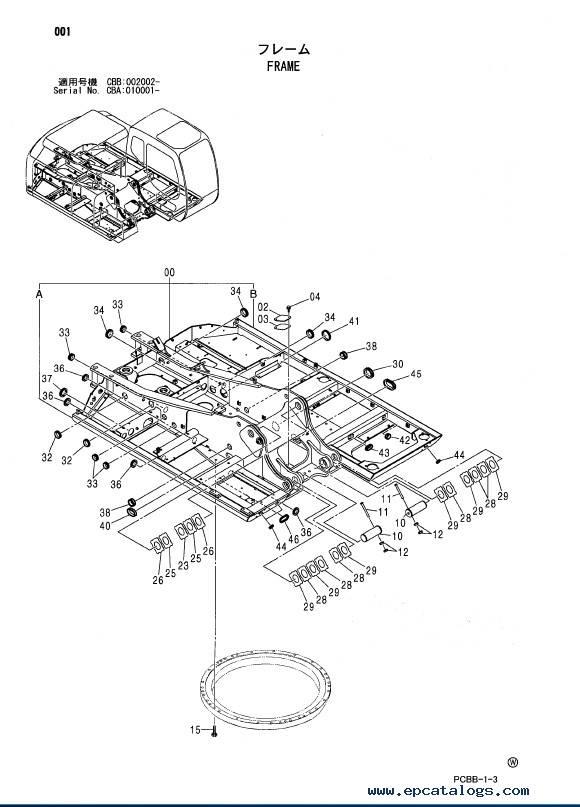 Hitachi Wheeled Excavator Zaxis 160W Parts Catalog PDF