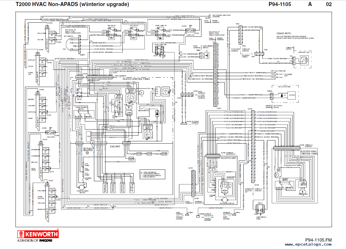 [WRG-0626] T800 1999 Instrument Wiring Diagram