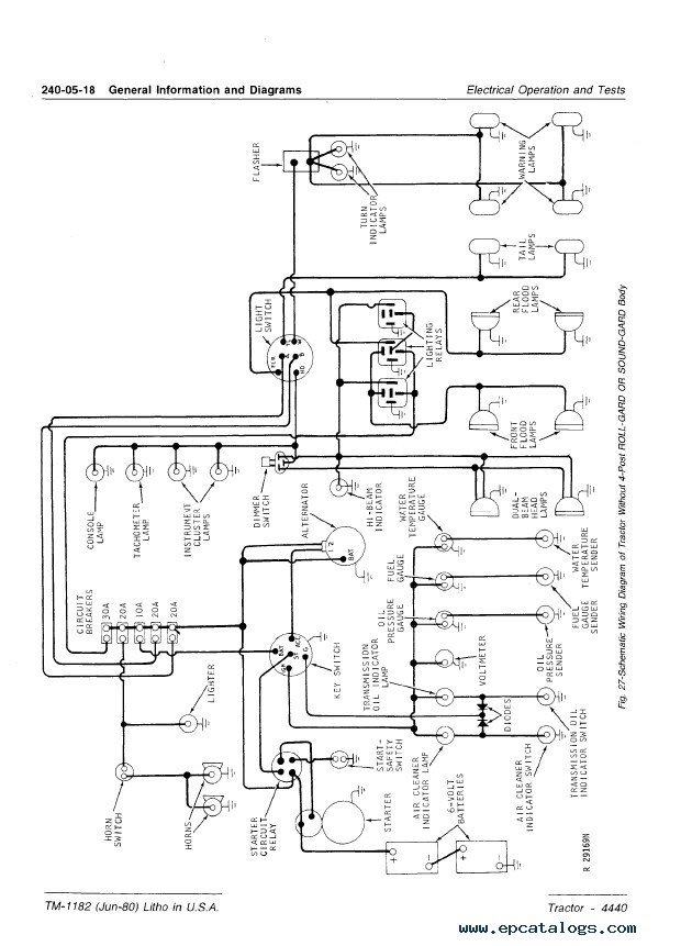 Wiring Diagram Database: John Deere 4440 Wiring Diagram