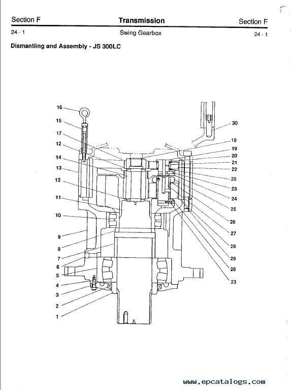 Download JCB JS200/240/300/450LC Excavators Service Manual PDF