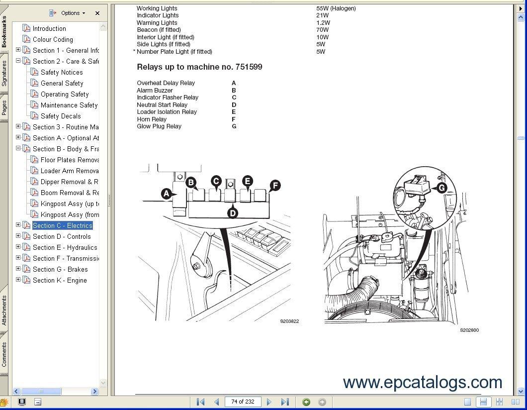 Jcb Loadall 520 Wiring Diagram Somurich Com JCB 520 Service Manual 520 Jcb  Wiring Diagram