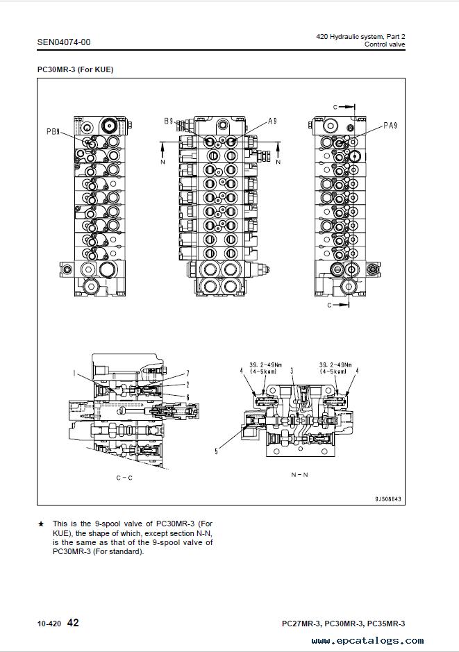 Komatsu PC27MR-3, PC30MR-3, PC35MR-3 Excavator