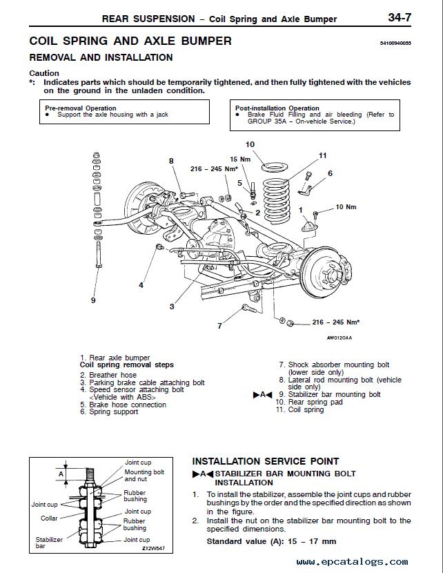 Workshop Manual Mitsubishi Pajero
