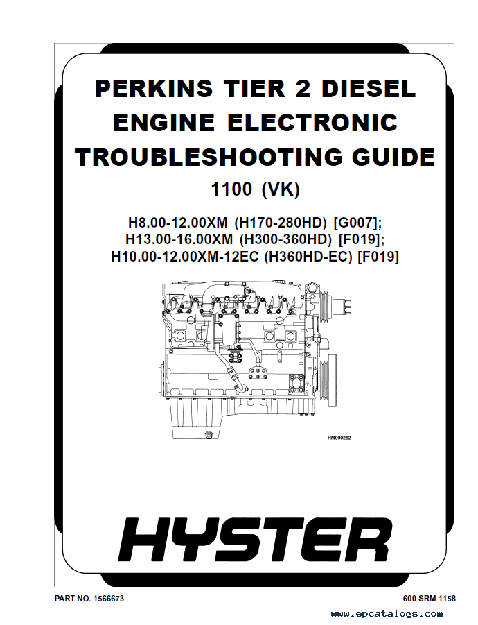 Hyster Class 5 Internal Combustion Engine Trucks PDF Manual