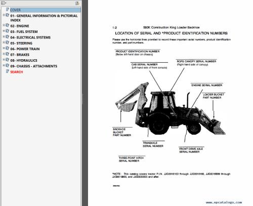 small resolution of case 580k phase 3 backhoe loader service parts pdf case 580k parts diagram