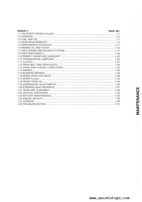 Download Harley Davidson Touring 2010 Service Manual PDF
