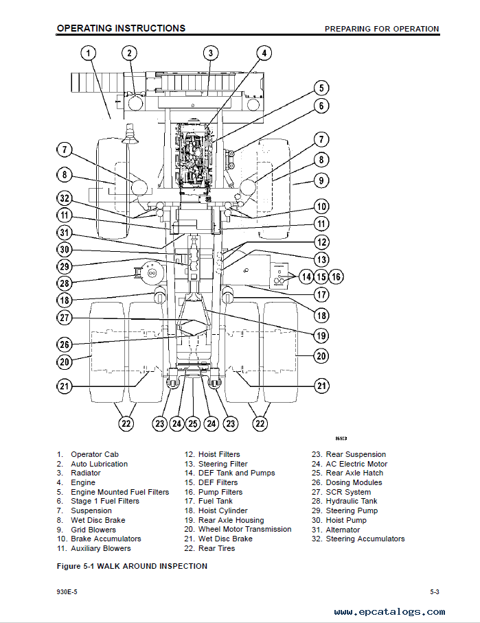 Komatsu Dump Truck 930E-2 Manual PDF Download