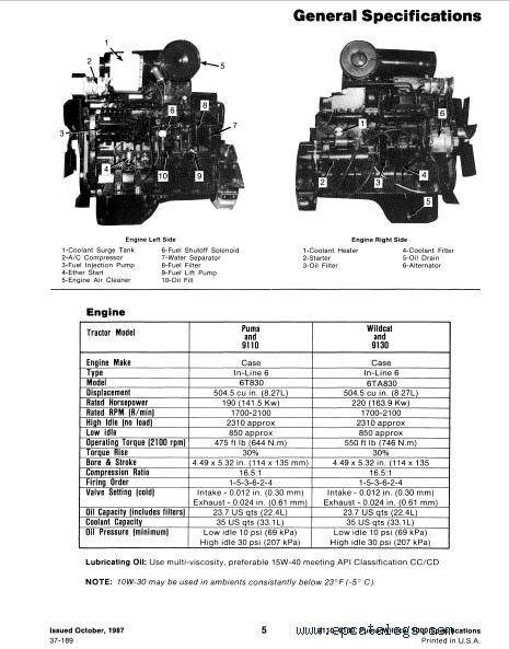 Case 9100 Tractors PDF Service Manual