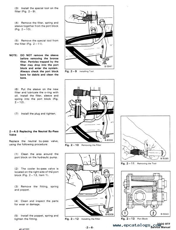 Bobcat 2000 RTF Wheel Loader Service Manual PDF