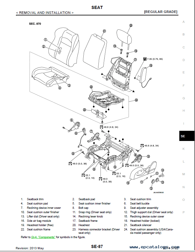 Nissan 370Z Model Z34 Series 2014 Service Manual PDF