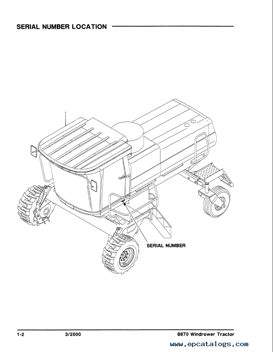 Case 8870 Windrower Tractor Parts Catalog PDF Download