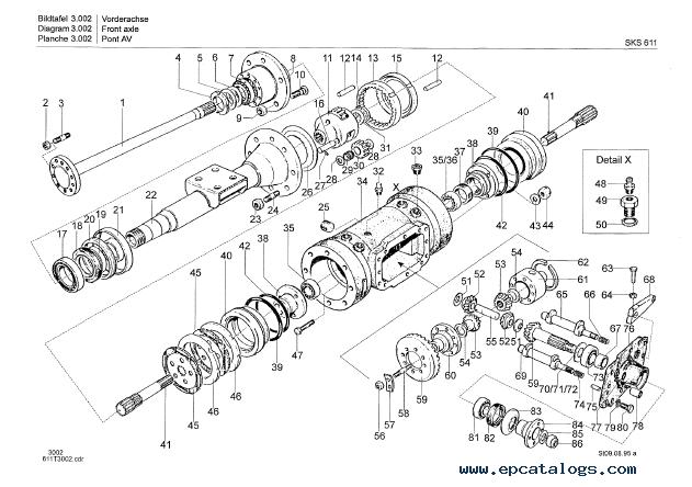 Terex SKS 611 Slew Shovel Loader Download Parts Catalog PDF
