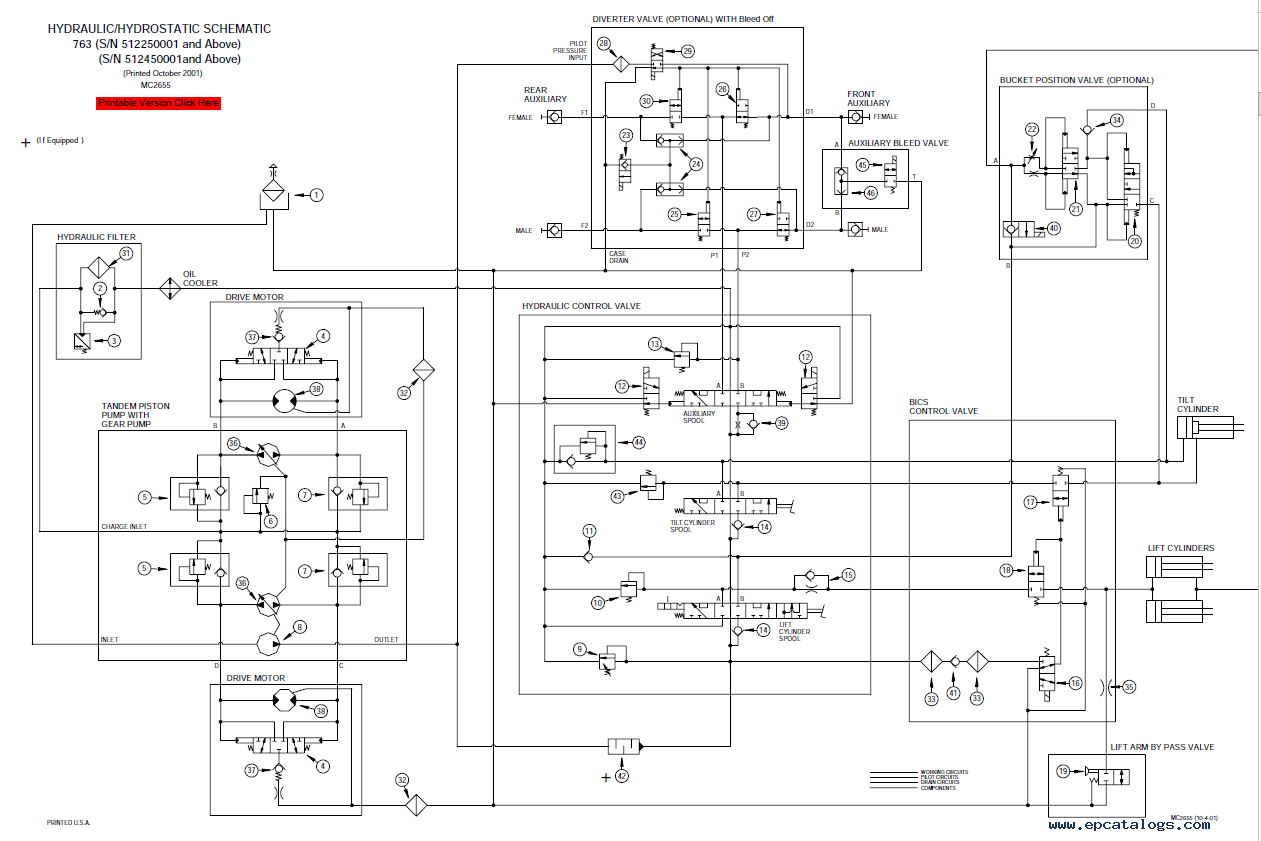 bobcat t190 wiring diagram simplex duct detector 2098 773 schematic all data change your idea with fuel system