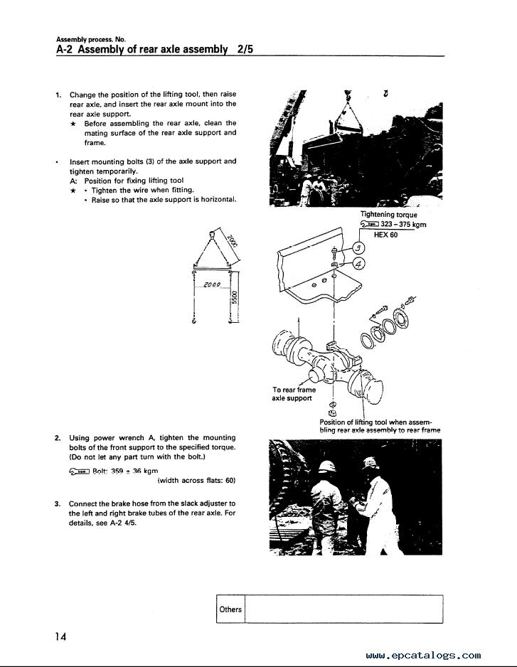 Komatsu Wheel Loader WA700-3 Field Assembly Instruction