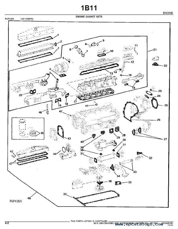 JD 6619 OEM Engines And Accessories Parts Catalog PDF