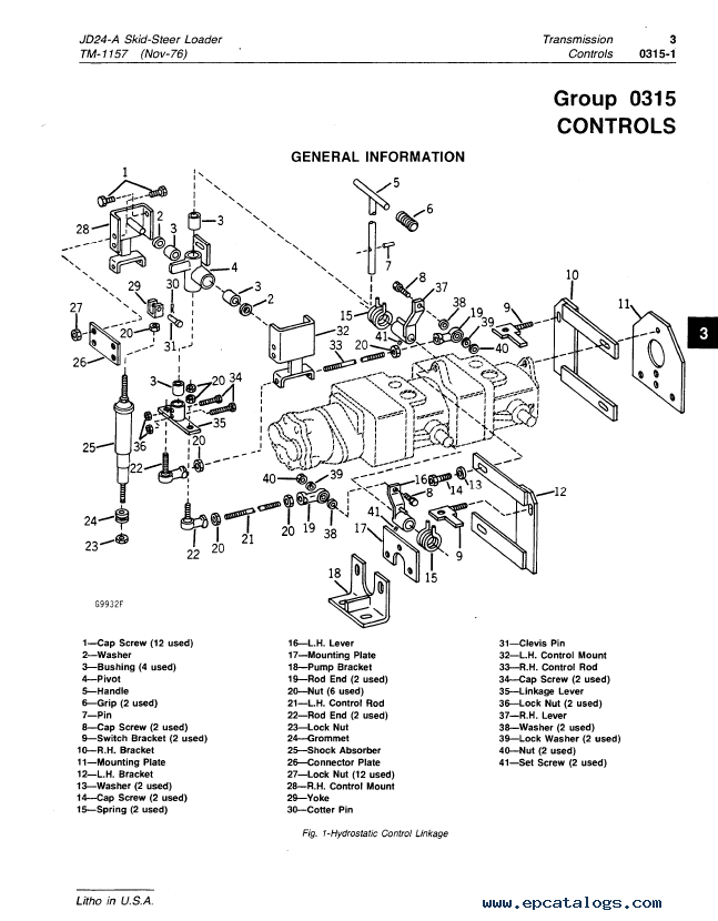John Deere JD24A Skid-Steer Loader TM1157 PDF Manual