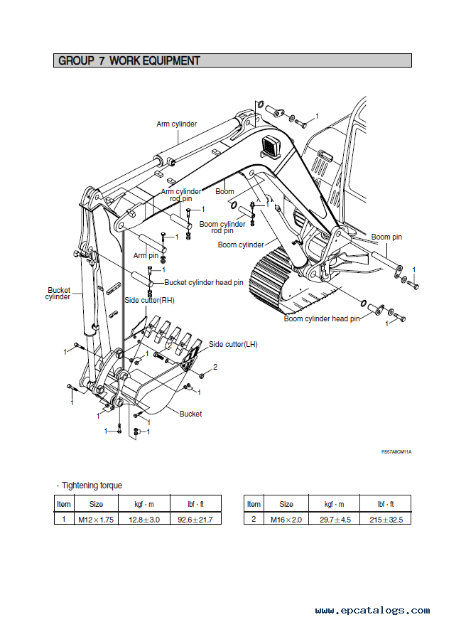 Hyundai R55-7A Crawler Excavator Service Manual Download