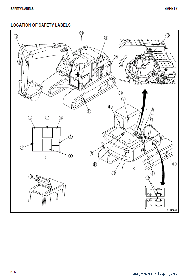 Komatsu Hydraulic Excavator PC130-8 Set Repair Manuals of PDF