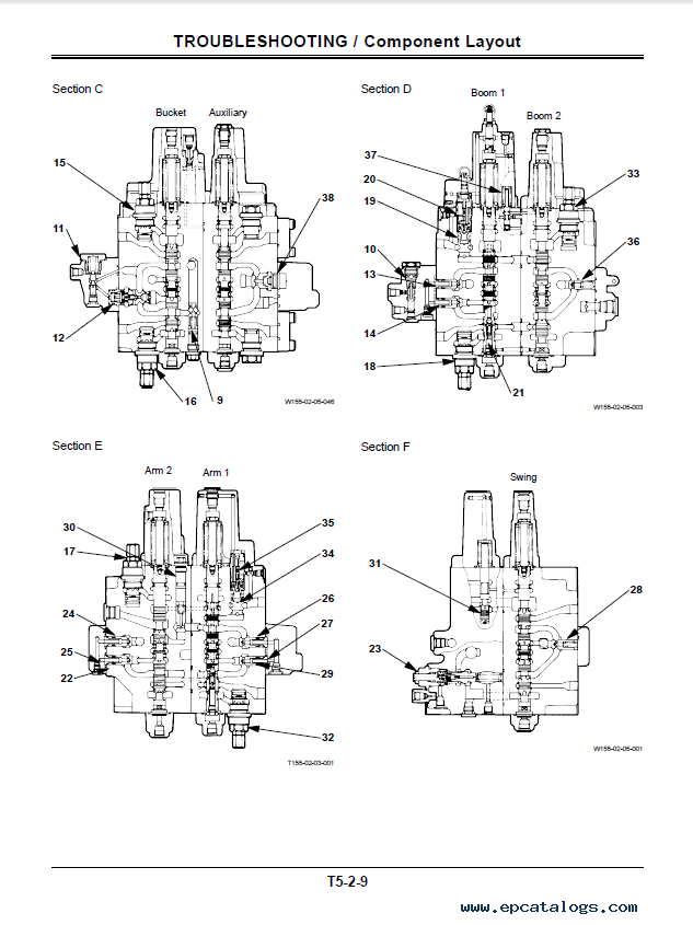 Hitachi EX120-5 Excavator Technical Manual TT155E-02 PDF