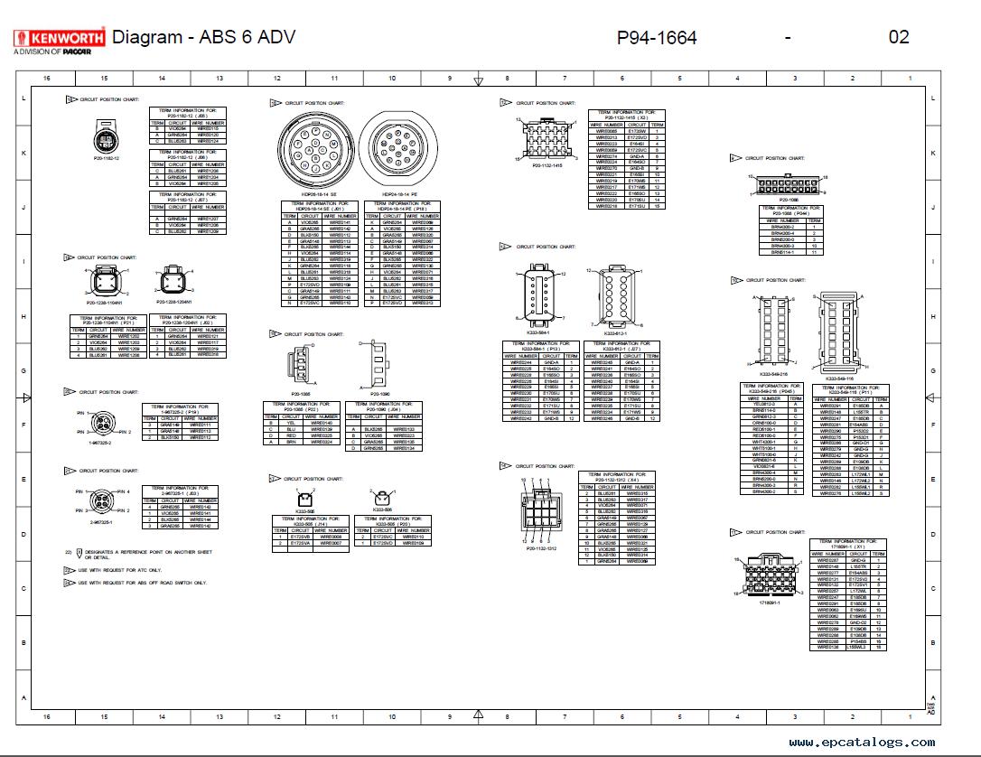 Kenworth T2000 Electrical Wiring Diagram Manual PDF Repair Manual