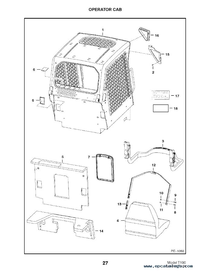 bobcat t190 wiring diagram Bobcat 743 Parts Diagram bobcat t190 turbo tracked skid steer loader parts manual pdf bobcat 743 parts diagram