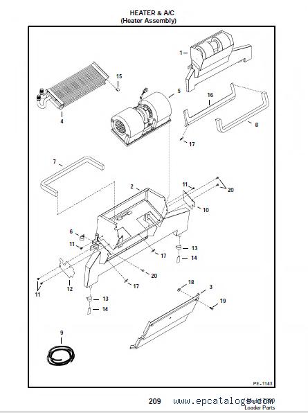 bobcat parts breakdown wiring schematic diagram