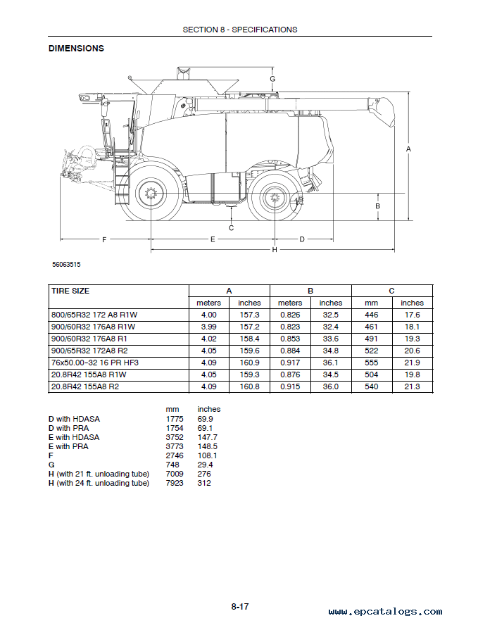 Case Combines 7010 & 8010 Axial-Flow Set of PDF Informations