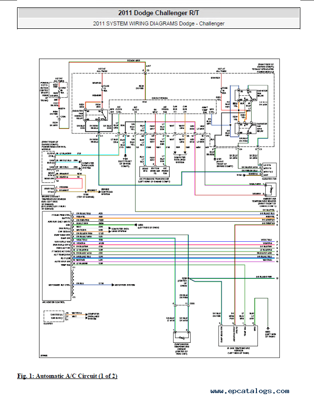 2012 dodge challenger wiring diagram