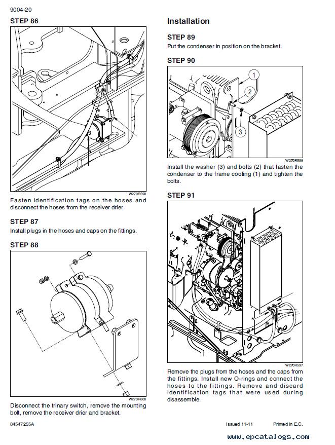 New Holland W270C & W300C Wheel Loaders PDF Manuals