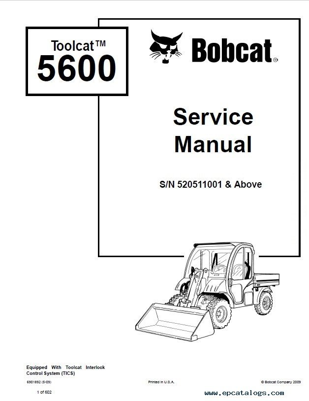 bobcat toolcat wiring diagram