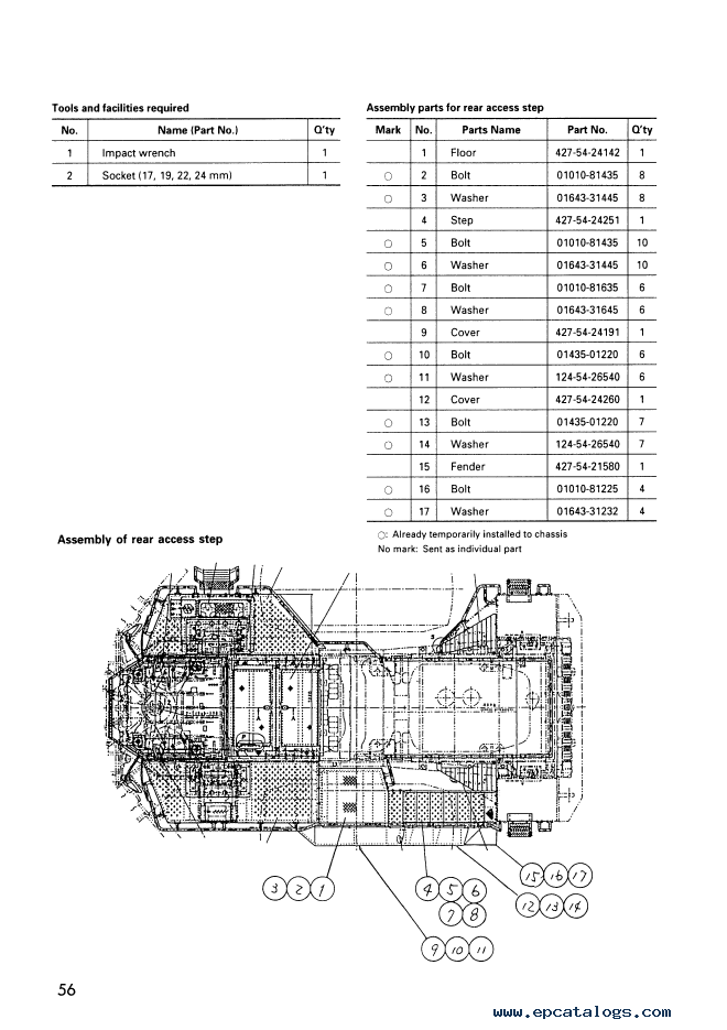 Komatsu Wheel Dozer WD900-3 Field Assembly Instruction