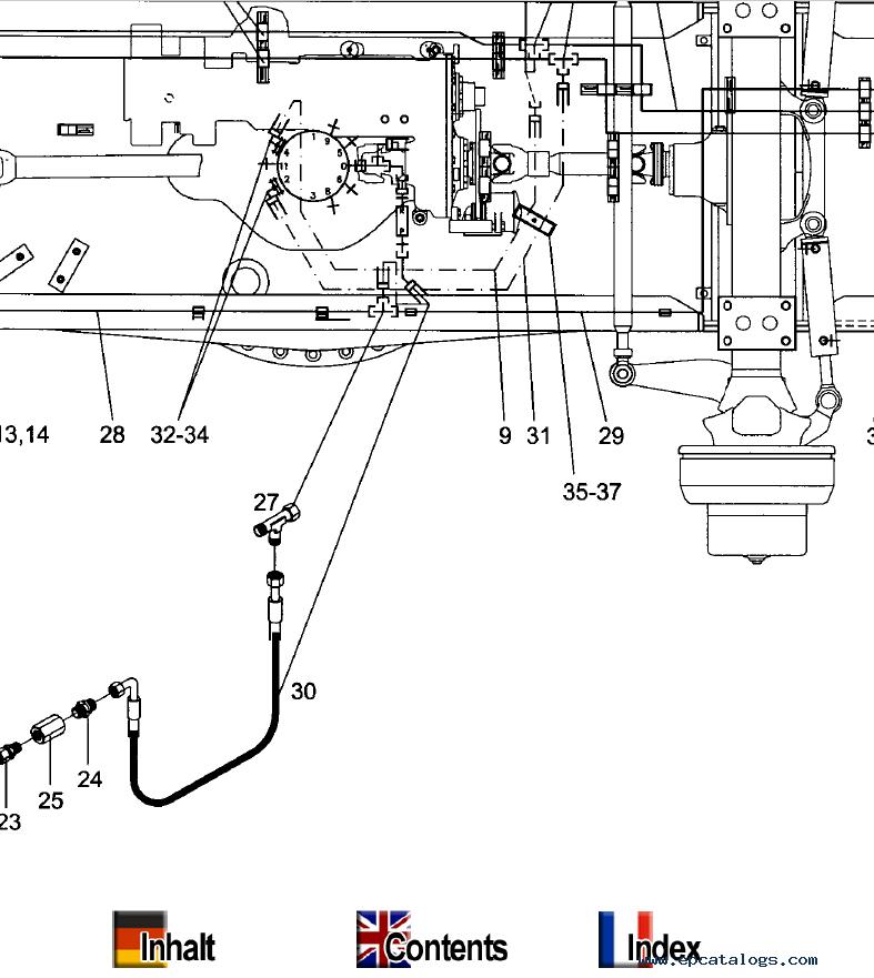 Terex MHL 331 Mobile Hydraulic Loading Machine Parts Catalog