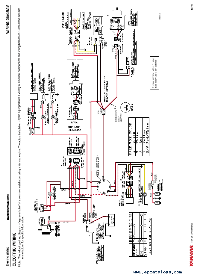 wiring diagram for an alternator toyota land cruiser john deere yanmar tnv series 2tnv70 3tnv70 3tnv76